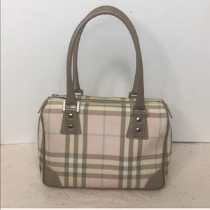BURBERRY Small Satchel in  pink check